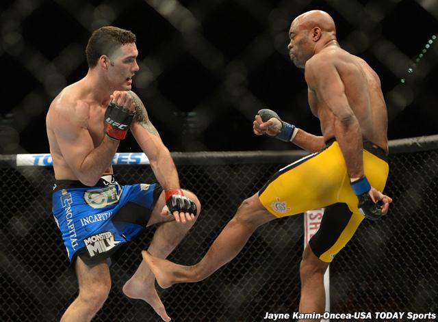 Anderson Silva's final kick at UFC 168 (Video) (1/2)