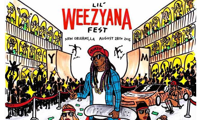 Salute to Lil Wayne on his Lil Weezyana Fest!