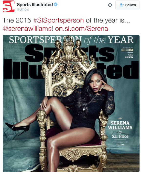 So people are upset that they chose Serena Williams over the horse American Pharaoh?