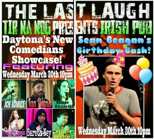 """""""The Last Laugh""""Stand-up Comedy @ Tir Na Nog"""